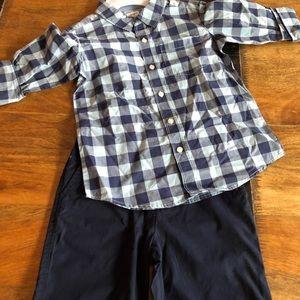 Boys size8 shirt and short set.